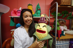 KOR uses a children's TV show featuring puppets to teach their language and culture to children and their parents.  Photo: Simon Chambers