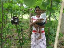 Farmer in her eco-friendly homestead