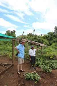 Archbishop Hilts at the Garanga Farm