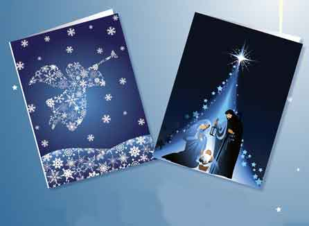 Angel and Holy Family Christmas Cards