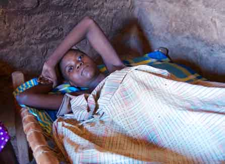 Alzeira Luis, a newly-diagnosed AIDS patient in Mozambique