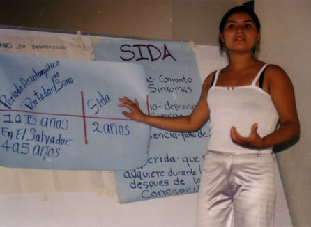 Members of CoCoSI teach in schools, prisons and community workshops to raise awareness of and prevent the spread of HIV.