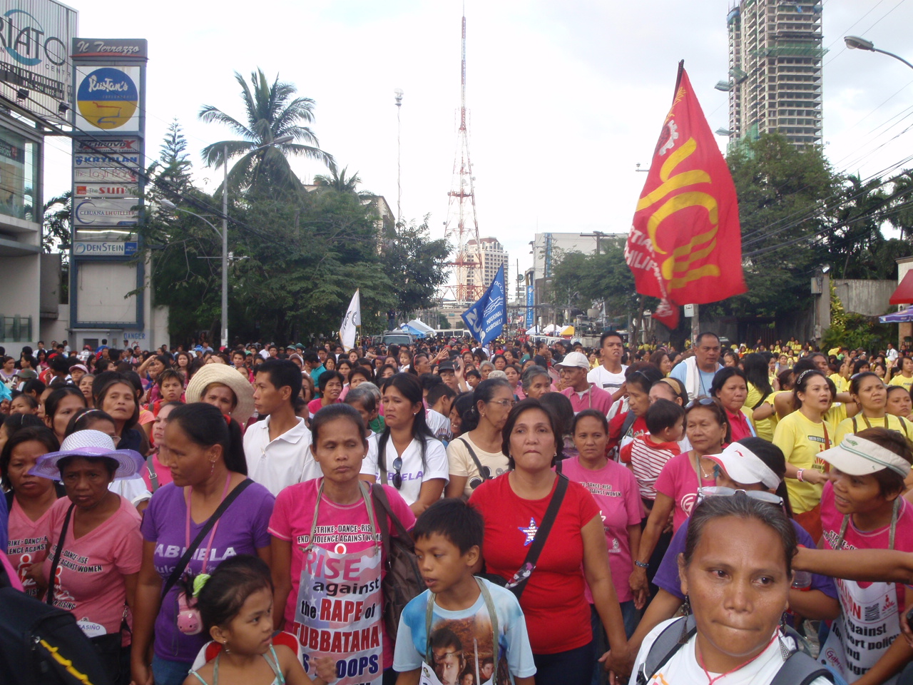 PWRDF partners in the Philippines participate in a human rights march. Photo: Laura Marie Piotrowicz