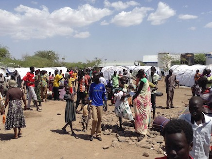Hundreds of South Sudanese fleeing the violence in their country are arriving at the Kakuma Refugee Camp each day. Photo: NCCK