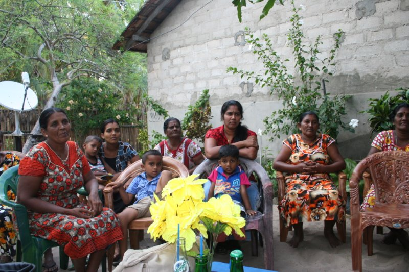 Self Help Group in Talaimannar, Mannar Island, NW coast of Sri Lanka. Photo: Jane Maxwell