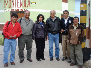 Rev. Rafael Goto (third from right) and CEPS staff, Churcampa, Peru, 2009. Photo: Suzanne Rumsey