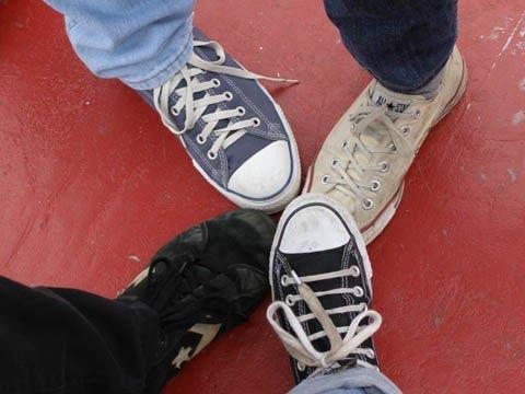 Photo of converse shoes