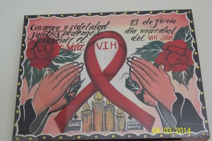 AIDS Mural from El Salvador. Photo: Jose Zarate