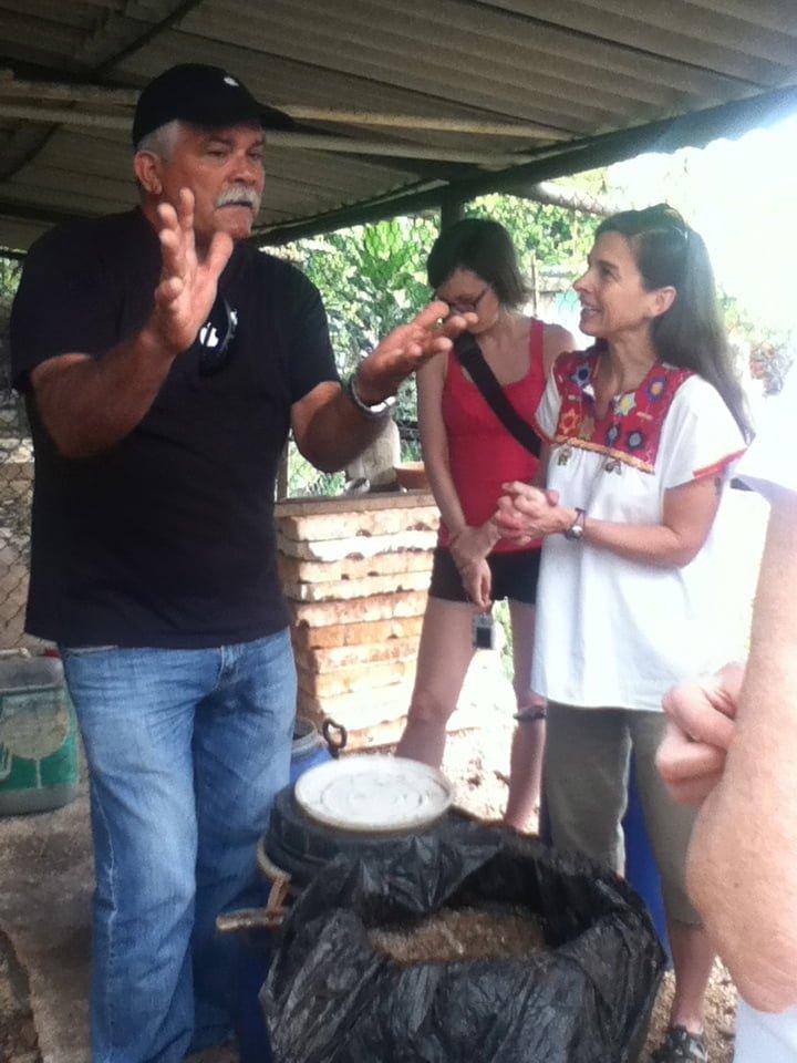 Cuban farmer Omar Gonzalez Santamaria speaks to the PWRDF delegation who visited his farm. Photo: Sheilagh McGlynn