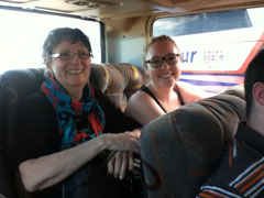 Tessa Dudley (right) with Valerie Maier on their first day in Cuba. Photo: Sheilagh McGlynn