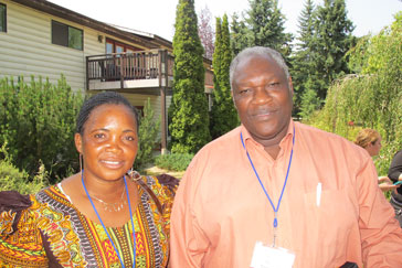 Joyce Berno Mtauka and Geoffrey Monjesa, Tanzanian partners, at Sorrento Centre, BC. Photo: Roslyn Macgregor