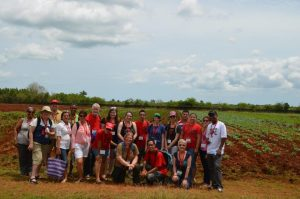 The immersion group at the CCRD farm.