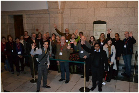 Canadian Foodgrains Bank volunteers visit Parliament Hill.
