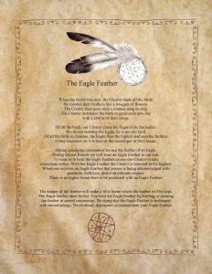 An explanation of the significance of receiving an eagle feather.