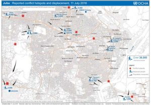 Locations of violence within Juba as of July 11. Source: UN OCHA