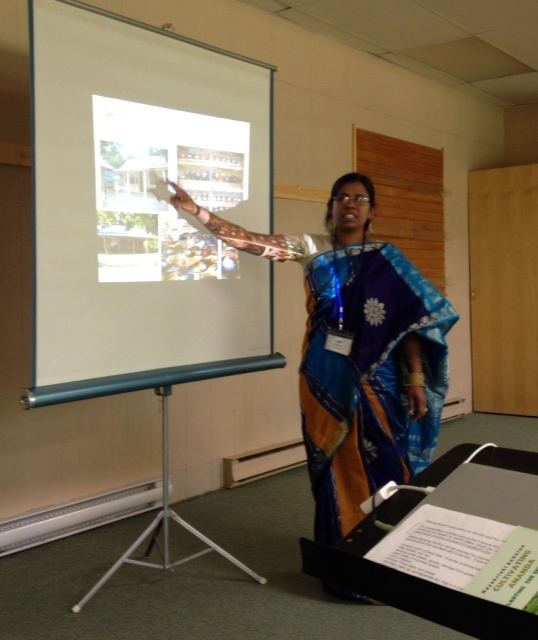 Liza Kahtun speaks about the importance of seed huts in Bangladesh