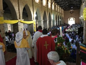 Bishop Irving was pleased to help celebrate at the service of confirmation in the Masasi Cathedral on Mother's Day.