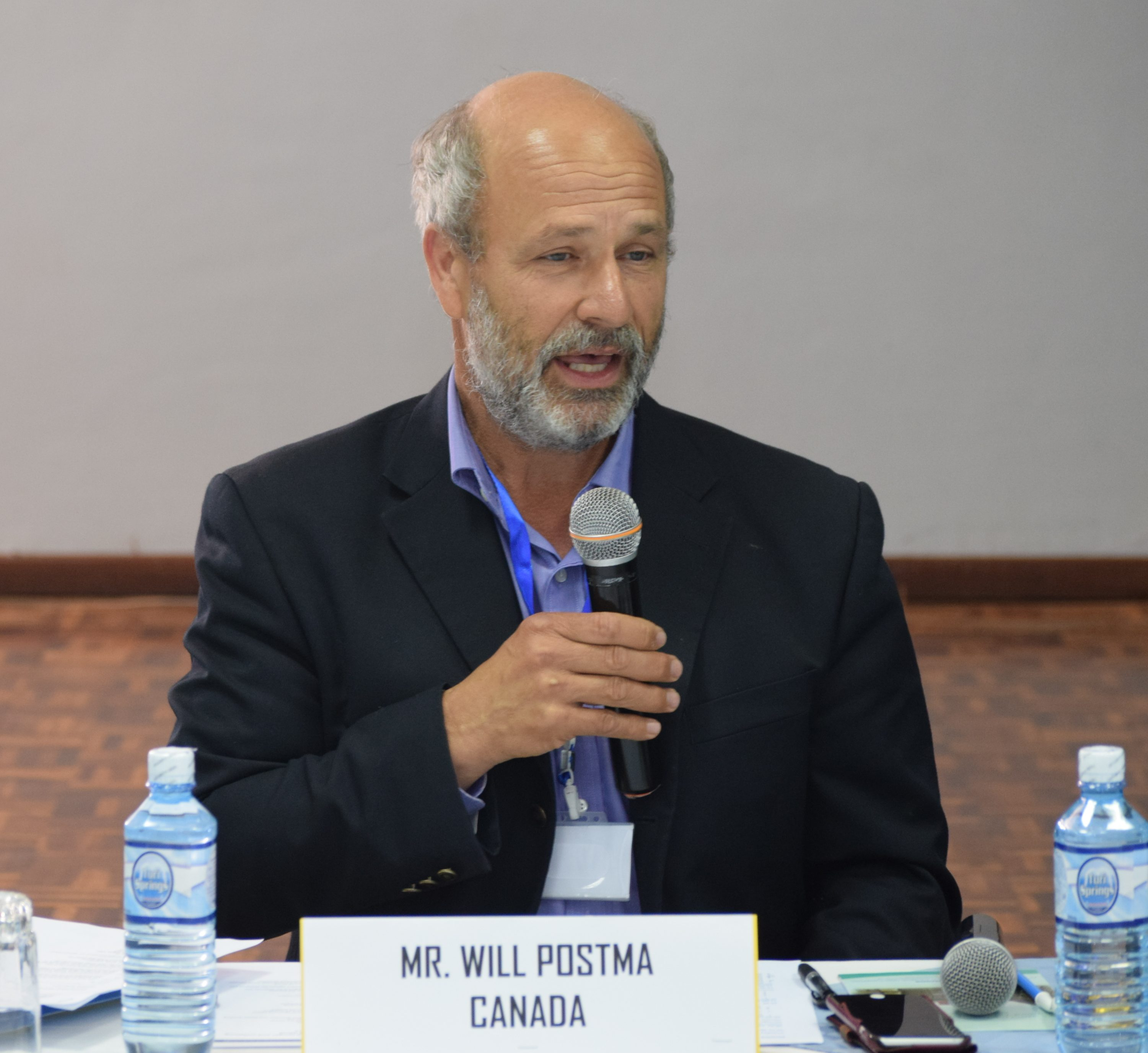 Will Postma speaks at a special conference of the All Africa Conference of Churches in Nairobi, Kenya. Photo courtesy AACC