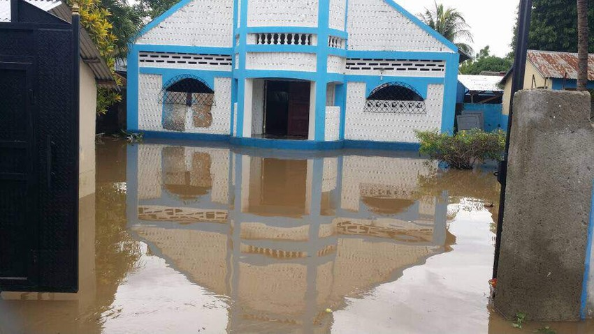 Flooding in Haiti after Hurricane Irma. Christian Aid photo.