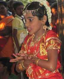 Dishanty, an 8-year old refugee living in India, dances