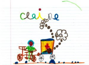 Bicycle Ambulance drawing by Claire
