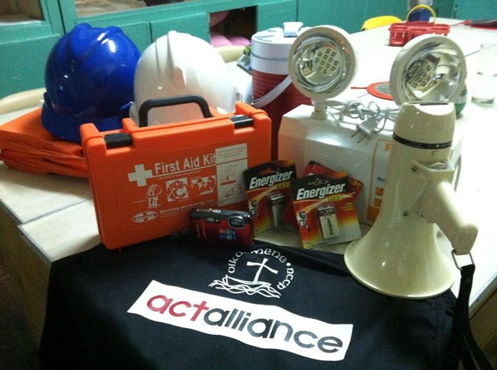 Emergency supplies are ready to go when Typhoon Hagupit arrives in the Philippines. Photo: NCCP