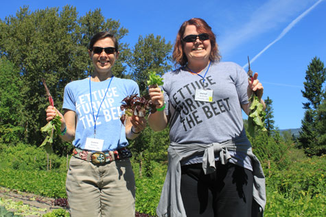 PWRDF staff members Suzanne Rumsey (left) and Sheilagh McGlynn will be leading the Sharing Bread (Two) course at Sorrento Centre July 5-11, 2015. Photo: Andre Visscher.