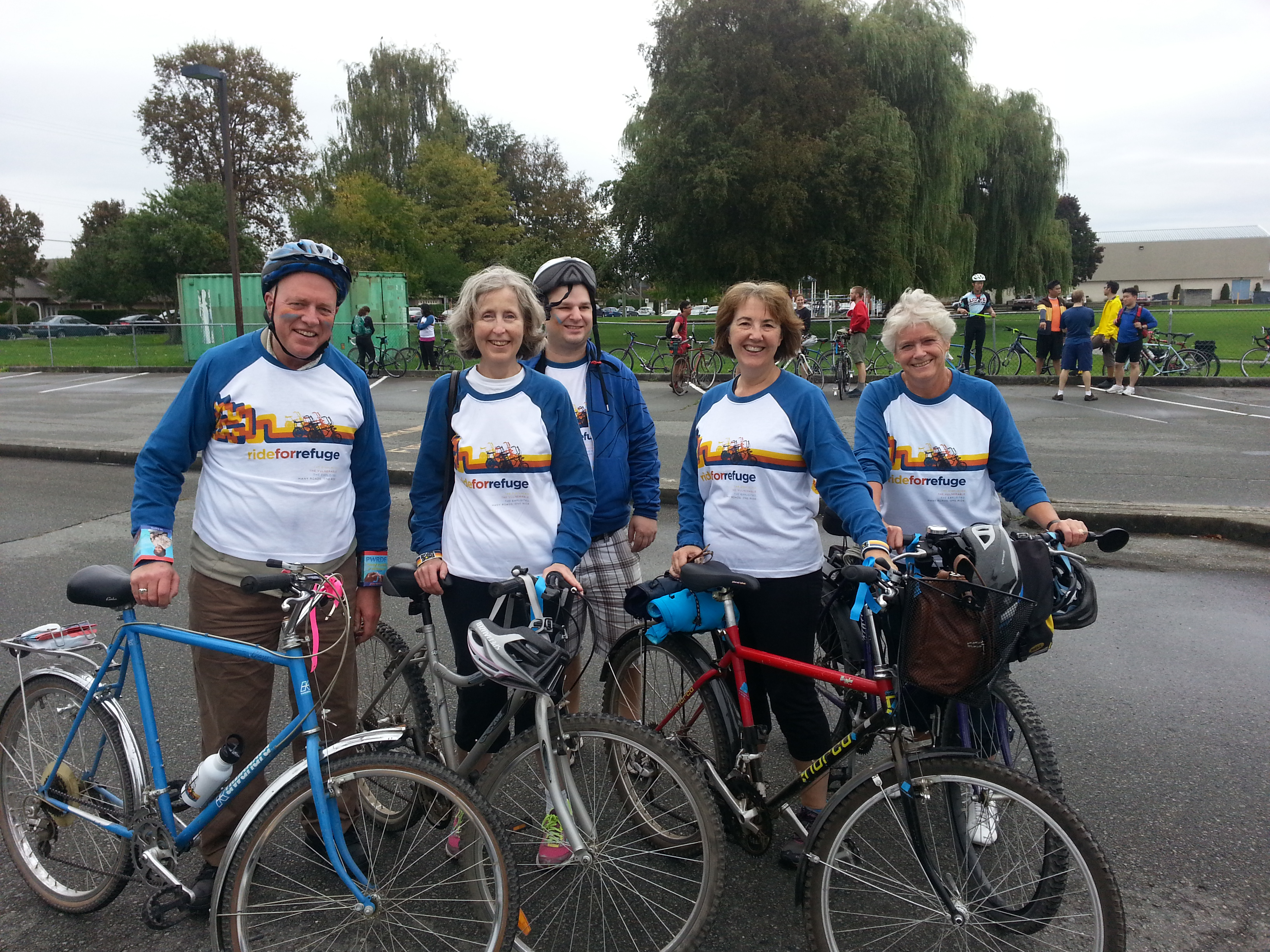 Riders on the PWRDF Vancouver Team in the 2014 Ride for Refuge. Photo: Contributed