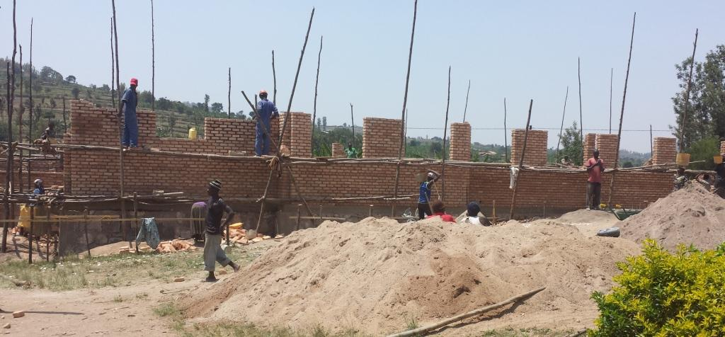 Construction continues on a 124 bed dormitory at the Vunga Vocational school in Rwanda. Photo: contributed
