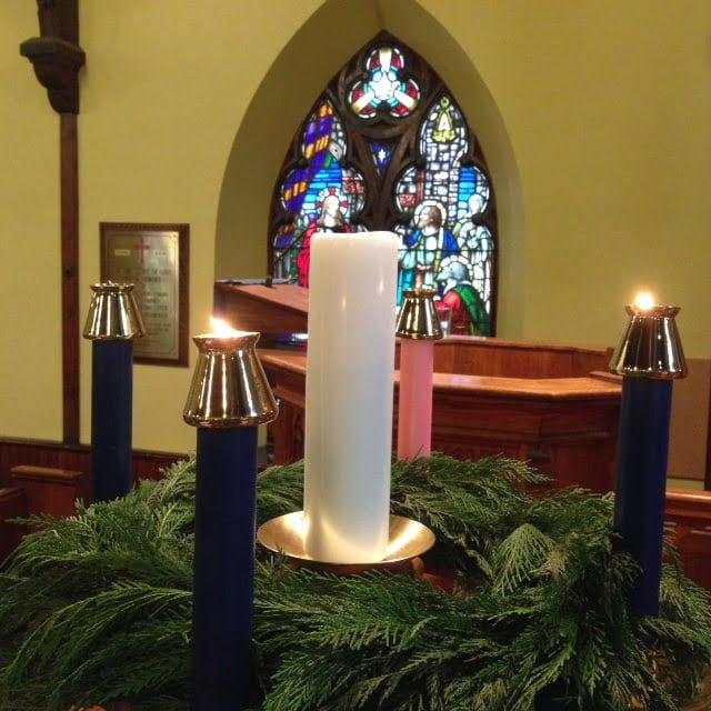 An advent wreath.