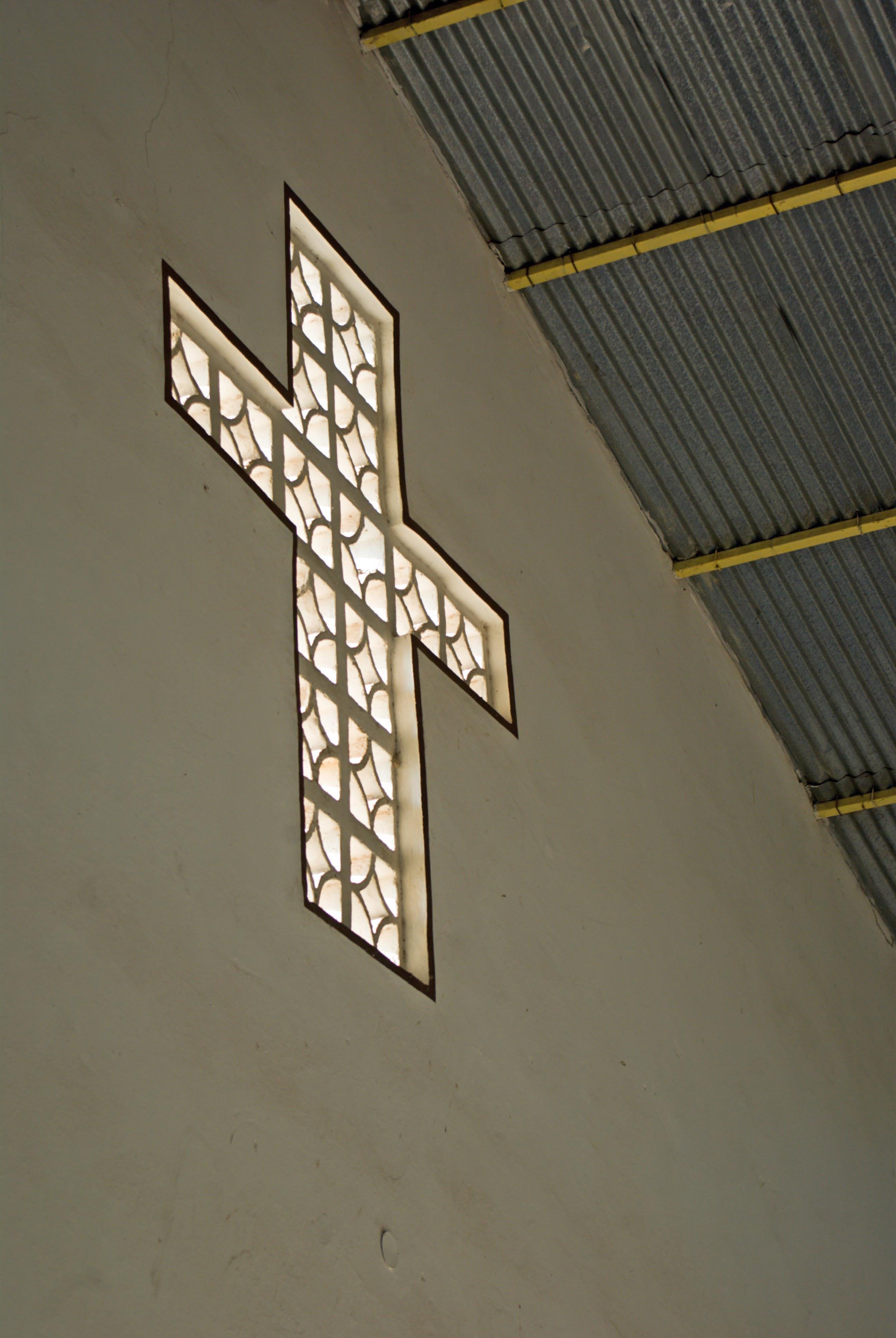 A window in a Burundian church. Photo: Simon Chambers