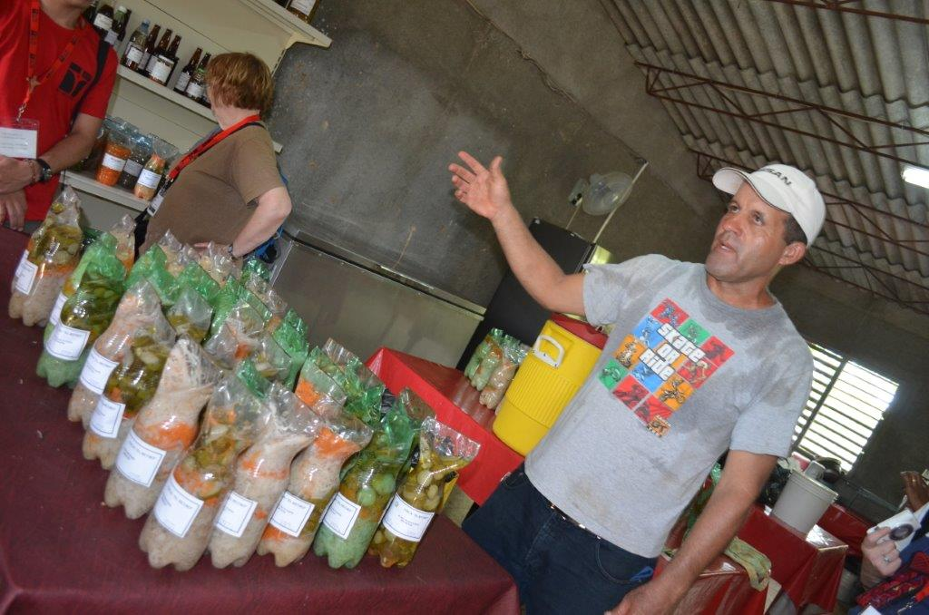 Bottles are re-used for many purposes at the CCRD-run farm in Cuba. Photo: Mona Edwards