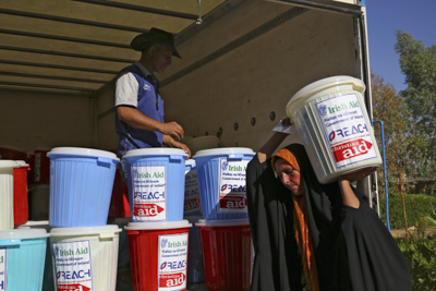 Food packages like these will be distributed to families fleeing the violence in and around Mosul. Photo: ACT/Christian Aid/Tracey Shelton