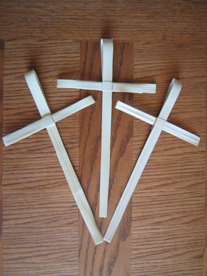 Ordering palm crosses like these, made by Tanzanians, from Africanpalms.com, will help support PWRDF's development work in the Diocese of Masasi, Tanzania. Photo: African Palms