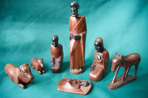 This nativity set was a gift to PWRDF from the Bishop of Masasi, Tanzania.  Photo: Simon Chambers