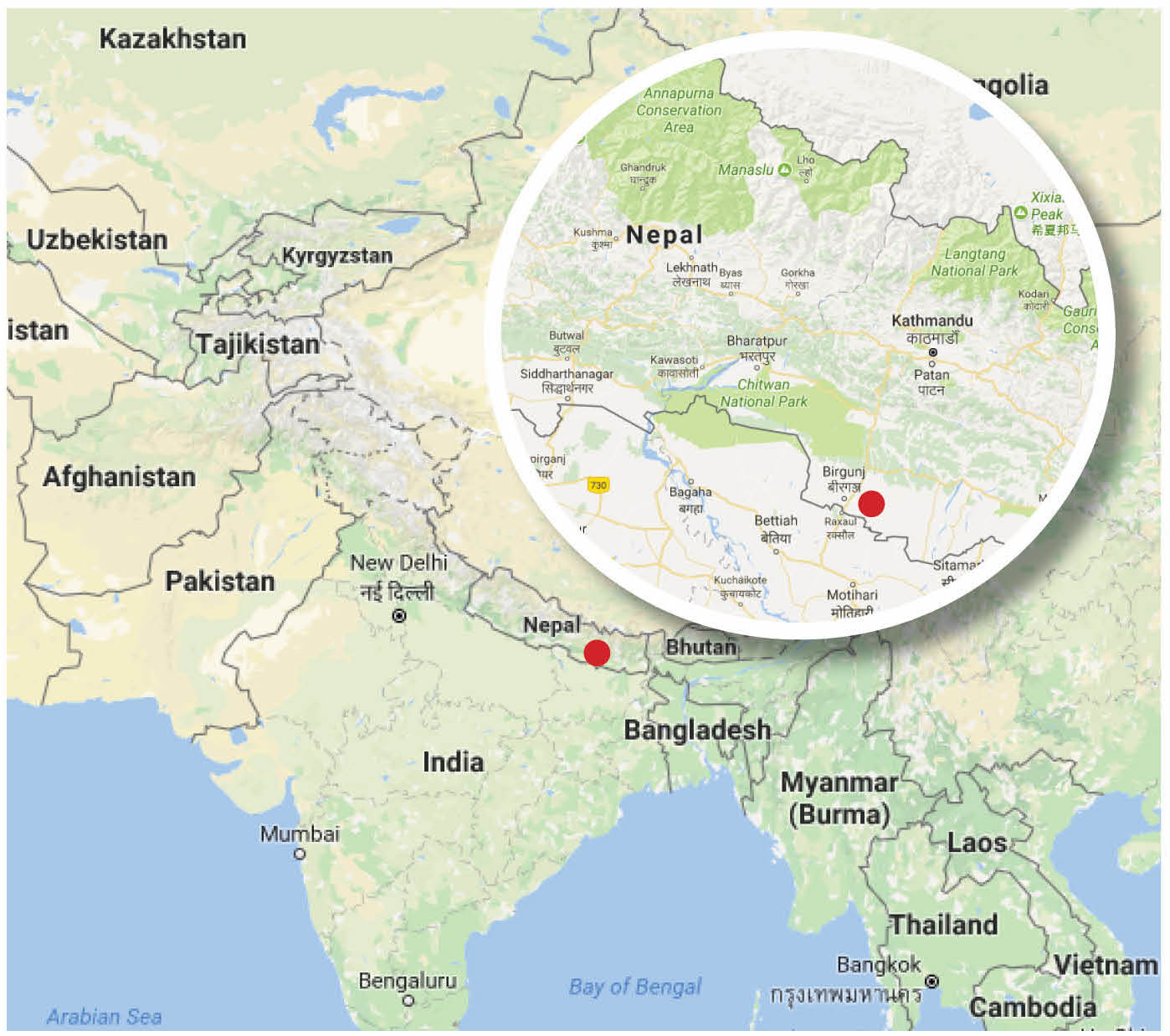 Pwrdf responds to nepal appeals for help after flooding the google maps gumiabroncs Choice Image