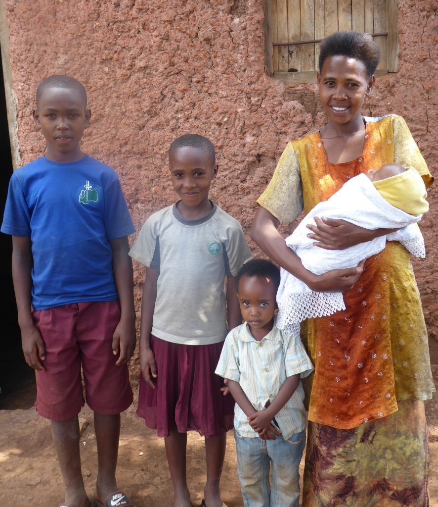 Saidate and her four children.