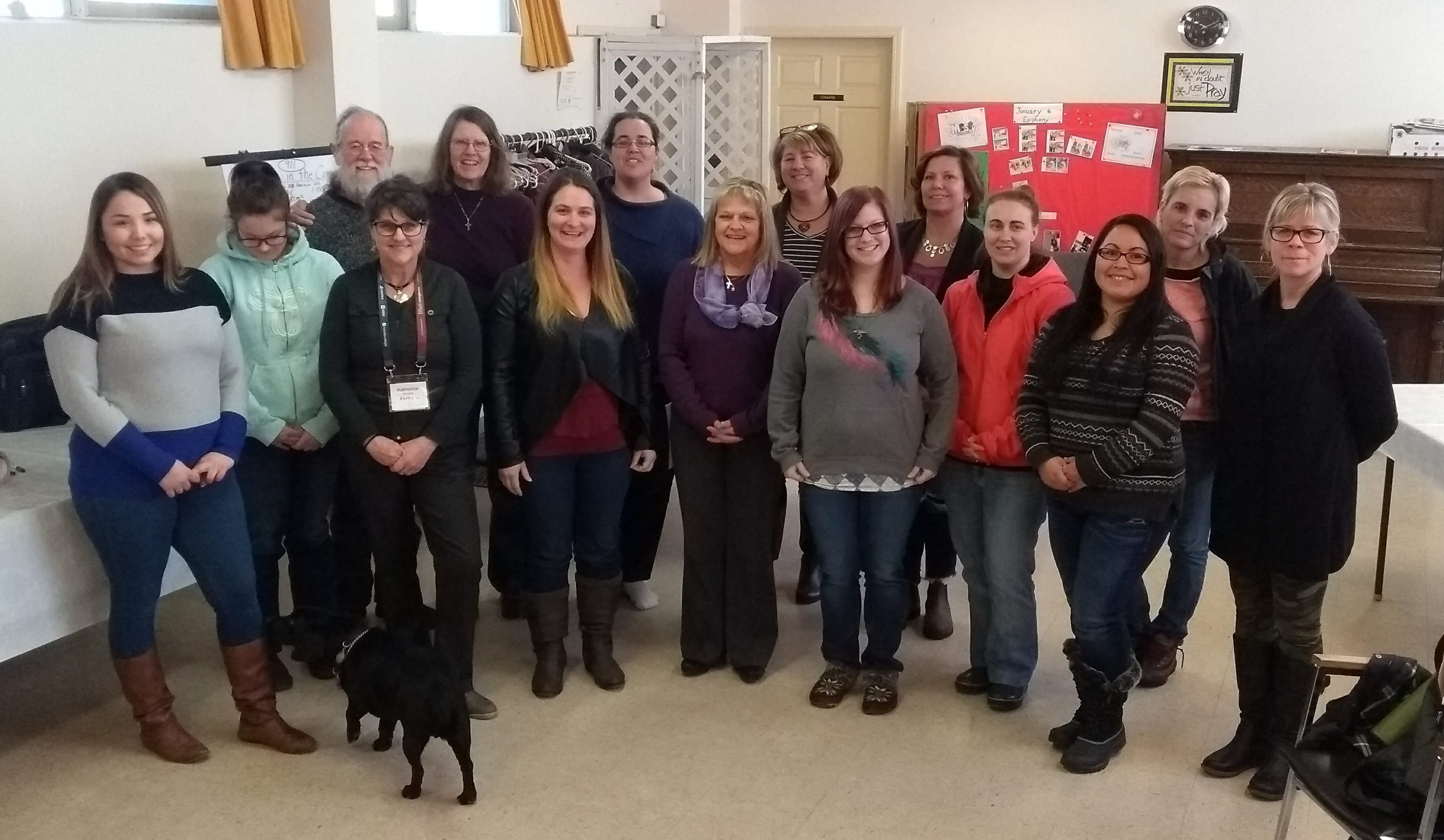 Some participants of ASIST workshop in William Lakes. Photo by Rev. Keith Dobyns