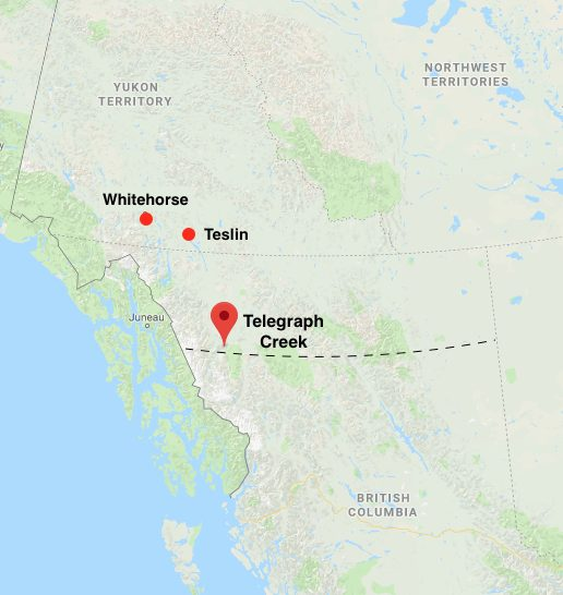 Telegraph Creek, B.C. is located within the Diocese of the Yukon.