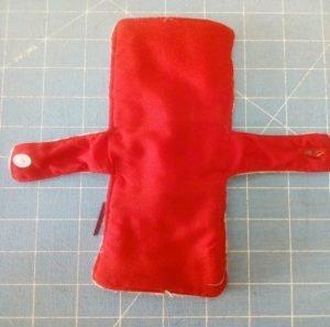 A hand-made sanitary pad.