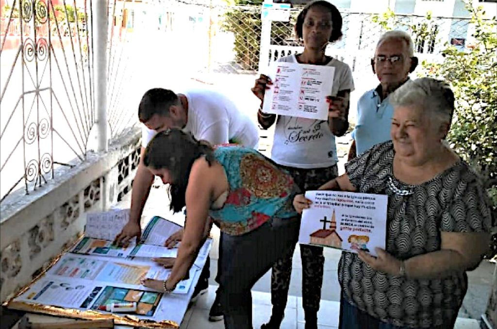 Disaster Response committee members produced and distributed flyers informing the public about COVID-19 measures.